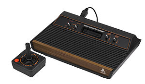 Atari 2600. The top bezel of the cast included the switches for power, player difficulty switches, etc.